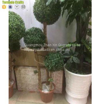 wholesale artificial fake plastic topiary boxwood hedge balls spiral tree