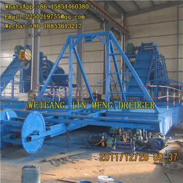 100 M3/hr Gold Dredge Boat High Strength Bucket Chain Gold Dredger