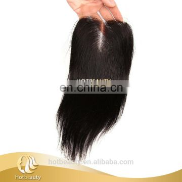 Top selling natural remy extensions hair lace closure virgin peruvian hair silk base closure