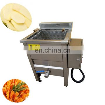 Continuous frying machine for french fries