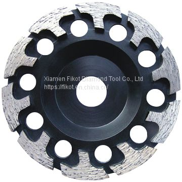 T shape Tornado Grinding Cup Wheel Diamond Grinding Cup Wheel Disc for Concrete Granite Marble Stone