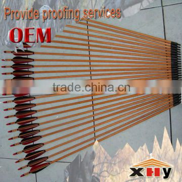 Hunting arrows Handmade wooden Indonesian white wood good solid shaft winding toughness TURKEY ARROW