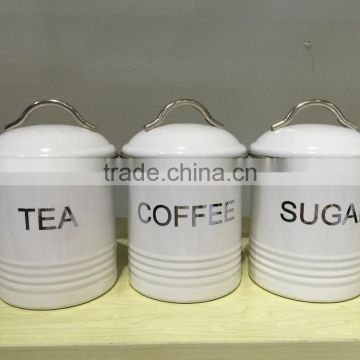 SET 0181 retro classic round sugar tea coffee canister