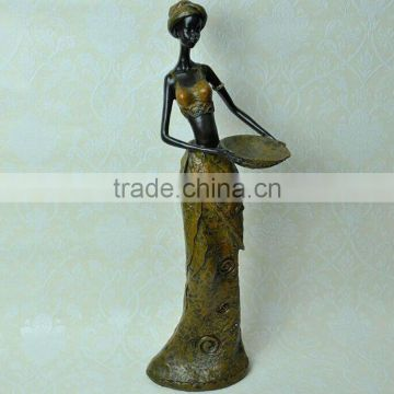Black African girl resin sculpture series,interior decorations sculpture