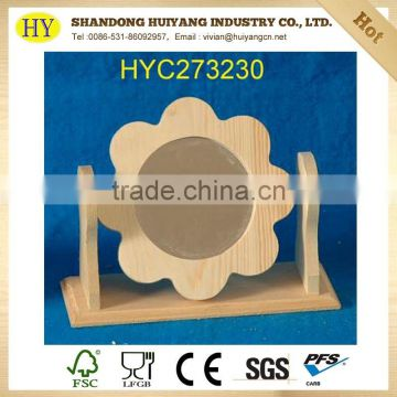 New arrival wooden photo frame wood frame stand on table