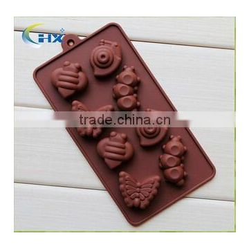 New arrival food grade fruit shaped silicone ice mold