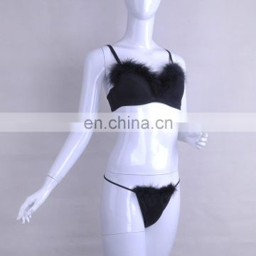China Factory Party Cosplay Christmas Fluffy Sexy Bra Set