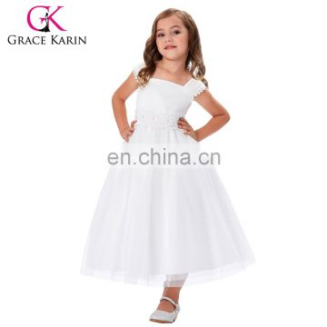 Grace Karin Sleeveless Square Neck Flower Girl Princess Bridesmaid Wedding Pageant Party Dress CL010405-1