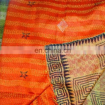 Indian Silk Scarf Long Stole Dupatta Printed Shawl Wrap Silk Reversible