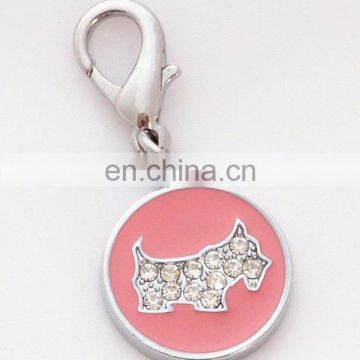 Custom metal dog ID name tags with rhinestone