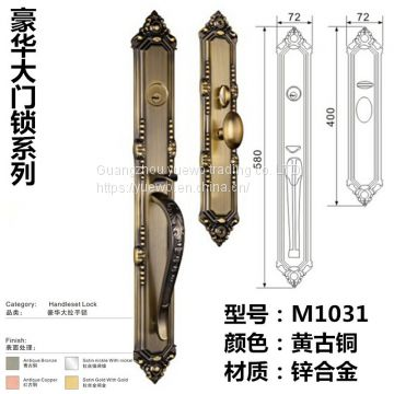 Zinc-alloy european-style handle lock luxury villa door lock american-style anti-theft door lock high-grade mechanical d