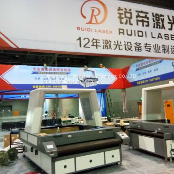 Ruidi Sccd CCD Laser Cutting Machine/SLR Camera Auto Feeding Locating/Sports Clothing/Banner/Towing/Leather/Flag/Advertising Umbrella Cutting Machine 1800*1200