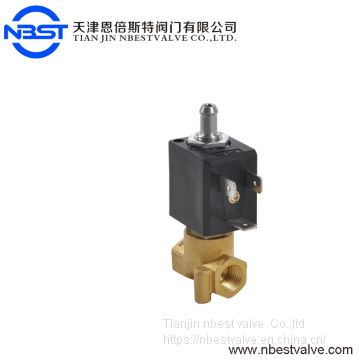 3 way VITON seal Direct acting coffee machine and appliance brass solenoid valve