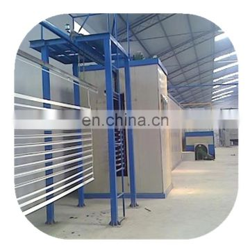 Automatic powder coating production  line for aluminium window and door