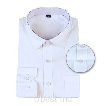 Mens Shirt White Blouse Tops Long Sleeve Formal Office Shirt