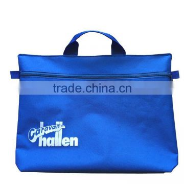 2015 high quality 600D blue Polyester Material document carry bag