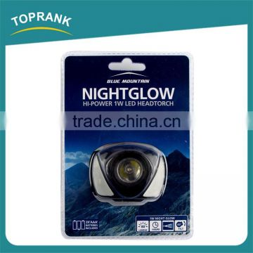 Best price 1W led headtorch, ABS high power led headlight