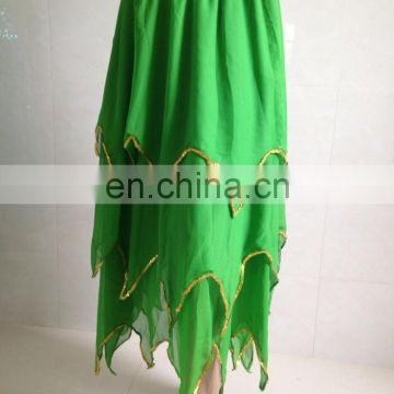 Egyptian chiffon professional women belly dance dress Q-6021#