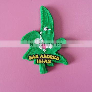 San Andres travel place souvenir gifts customized 3D rubber soft PVC fridge magnet