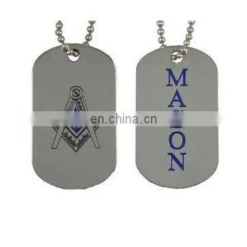 Freemason Masonic militray dog ID tag
