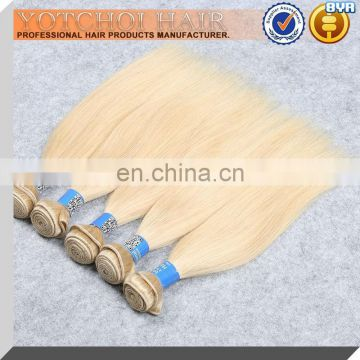 Toppest grade weave 8a 100% Human Hair Color 613 Unprocessed Russian Double Drawn Hair
