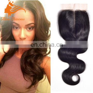 Malaysian Body Wave Lace Closure Bleached Konts 4x4 Human Hair Closure Lace Closure