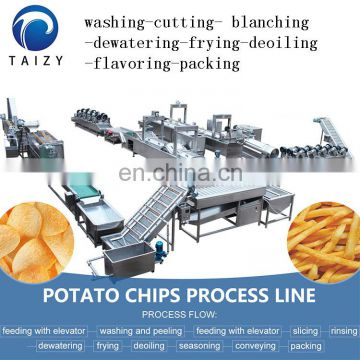 frozen french fries machinery fresh potato chips machine fully automatic potato chips production line