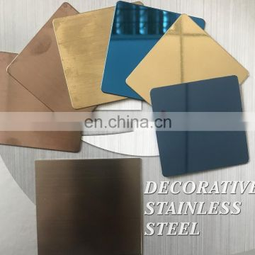 Golden,Black,Sapphire,Rose gold Bronze,Purple,Gray,Champagne Violet Colored Hairline Stainless Steel Sheet