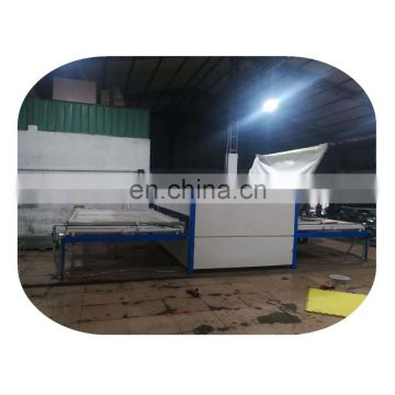 Wood texture transfer machine for doors