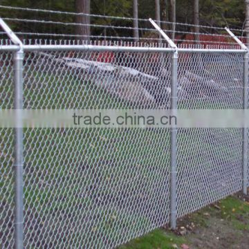 """2 3//8/"""" Barb arms 45° angled galvanized  commercial chain link fence"""