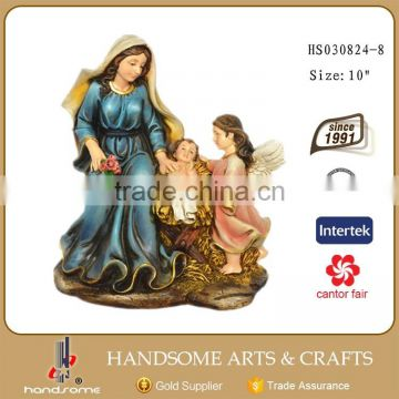 Resin Holy Familay Statue with Angel