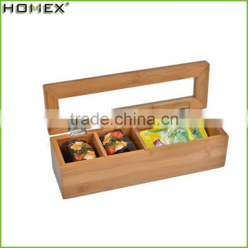 Wholesale Natural Bamboo Tea Box With Good Price/Homex_Factory