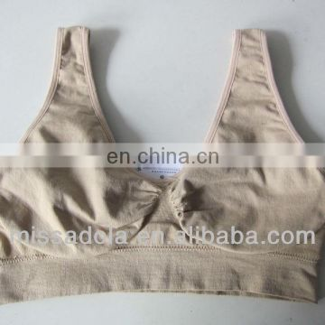 hot sale popular full sexy custom ladies seamless sports bra tops Trade assurance supplier