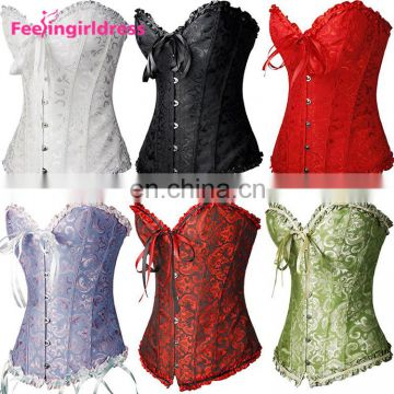 New Stylish Waist Training Slimming Steampunk Corset Steel Boned Women