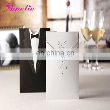 ACW2011 Bride and Bridegroom Design Pre Wedding Invitation Card