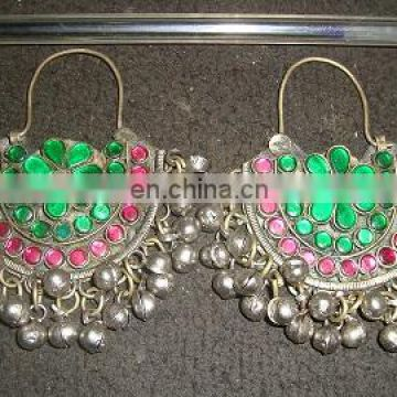 (KE-2001) Afghan Kochi Tribal Earrings Newly made