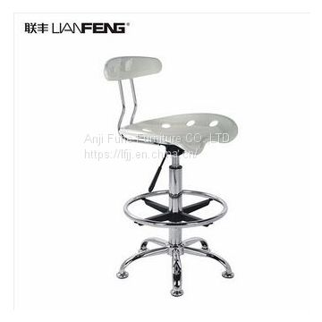 New design plastic chair commercial furniture Metal Bar Stools