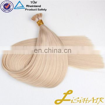 keratin pre bonded flat tip hair grade 9A 10A European remy human hair 613 color hair extension