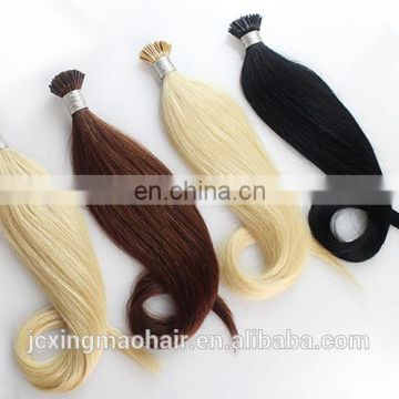 Hot Selling Top Quality 100% Remy Human Hair Stick I Tip Keratin Fusion Virgin Hair Extensions