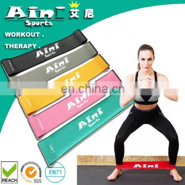 Set of 5, 12-inch Resistance Bands Exercise Loops - Workout Bands for Home Fitness, Stretching