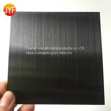 JYFM003 HL finished coated black stainless steel