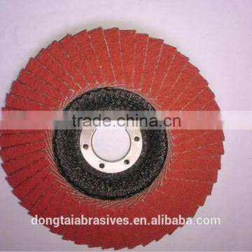100*16 Ceramic Flap Disc taking good abrasive material for steel and stainless steel polishing