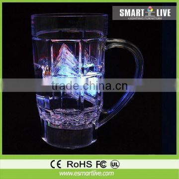 FDA proved Liquid active led glow glass/glasses for party/hotel/outdoor activity