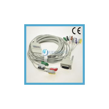 Schiller One Piece Series EKG Cable With Lesdwires ,clip,IEC