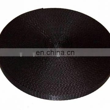 Black thick Wholesale inelasticity high strength nylon webbing