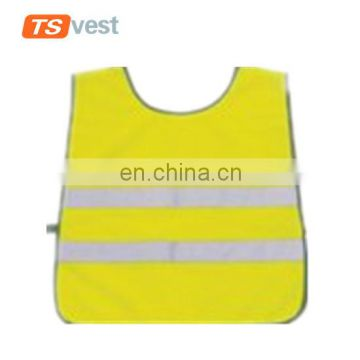 High Vis kid elastic band safety coat for children outdoor activities