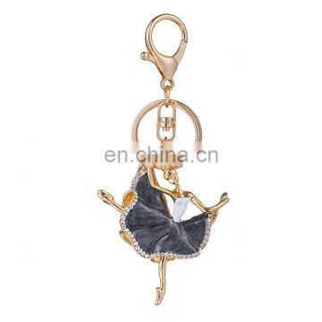metal dancer keychain