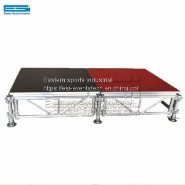 Cheap used outdoor event concert dance aluminum exhibition light mobile portable stage platform for sale