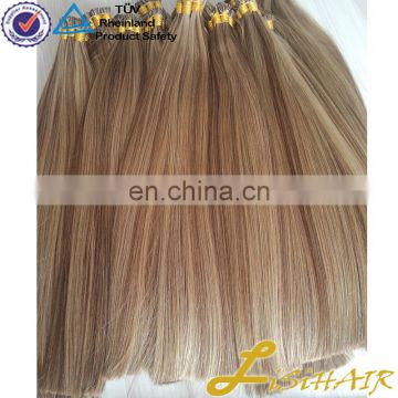 Top fashion high quality remy 100 percent indian luxury keratin fusion tip remy hair 100 human hair