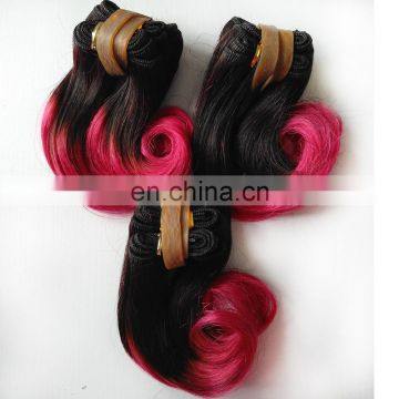 "8A grade 6"" Short brazilian two tone ombre hair weaves virgin brazilian ombre hair extensions"